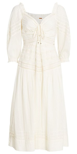 Free People sweethearts cotton midi dress in ivory