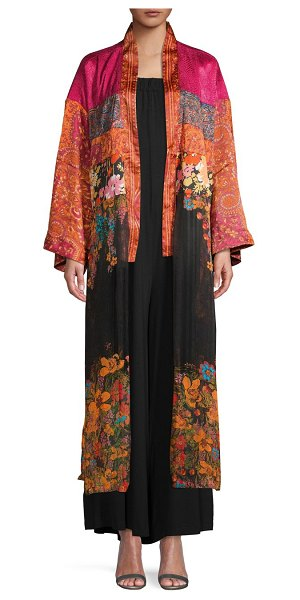 Free People The Young Love Floral Kimono Topper in red multi