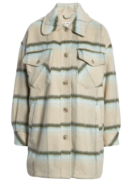 Free People vienna brushed coat in ice storm combo