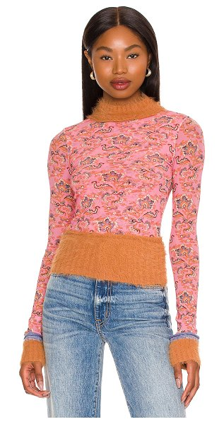 Free People x revolve cosmo cuff top in pink combo