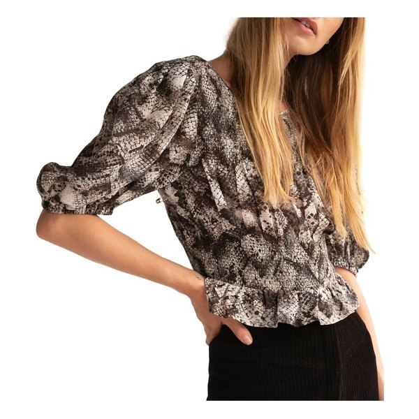 Free People xoxo blouse in snake