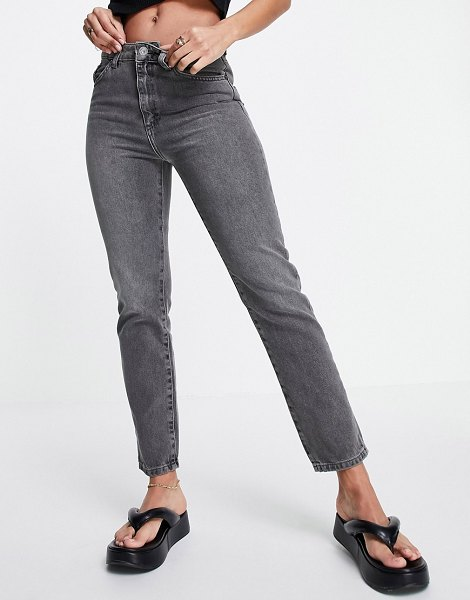 French Connection cut off jean in gray wash-grey in grey