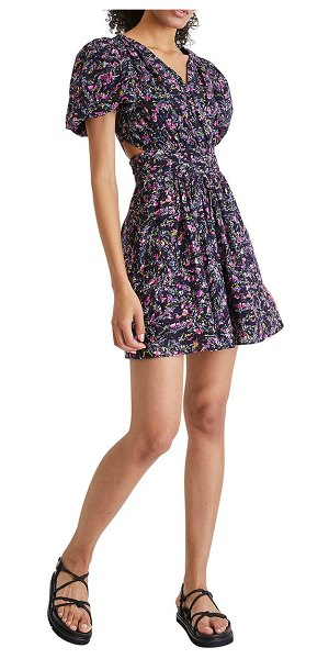 French Connection flores dress in 40-utility blue multi