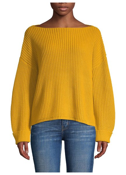 French Connection Millie Mozart Ribbed Sweater in yellow