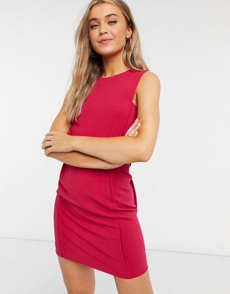 French Connection mini shift dress in magenta-pink in pink