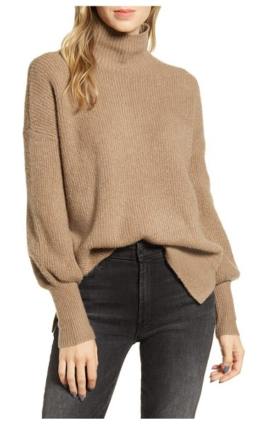French Connection orla ribbed sweater in mocha mousse