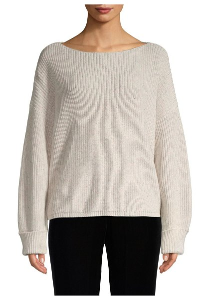 French Connection Ribbed Cotton Sweater in light grey