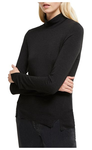 French Connection Venetia Turtleneck Top in black