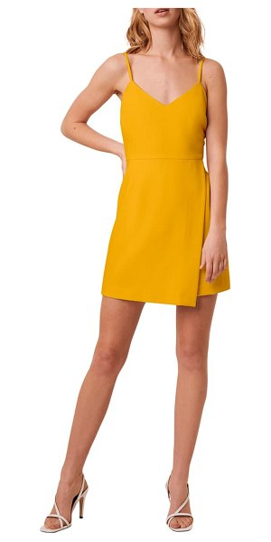 French Connection whisper minidress in golden oak