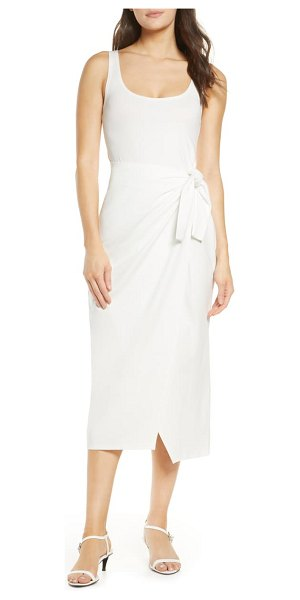 French Connection zenna sleeveless faux wrap dress in white
