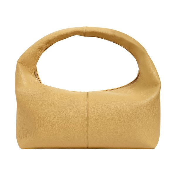 Frenzlauer Large grained leather panier bag in mustard