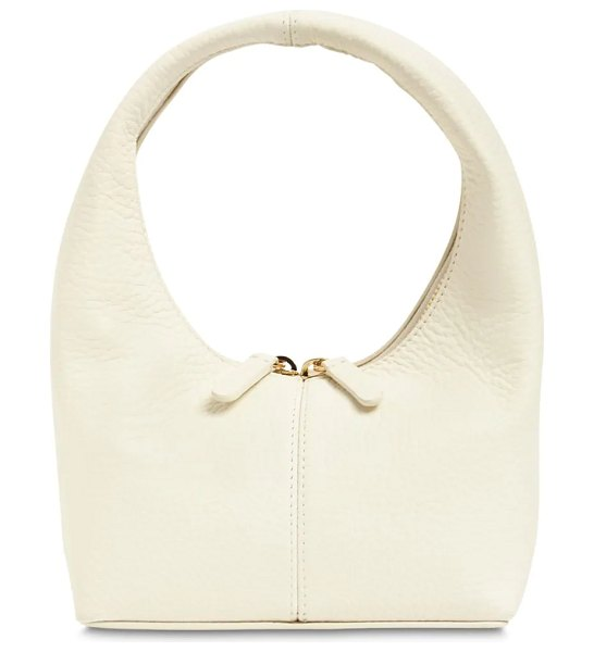 Frenzlauer Mini grained leather panier bag in ivory