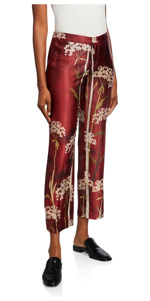 F.R.S For Restless Sleepers Landscape-Print Cropped Pants in red