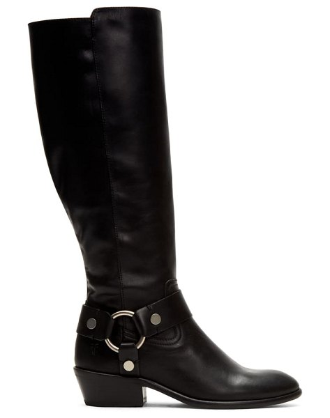Frye carson harness tall boot in clean black