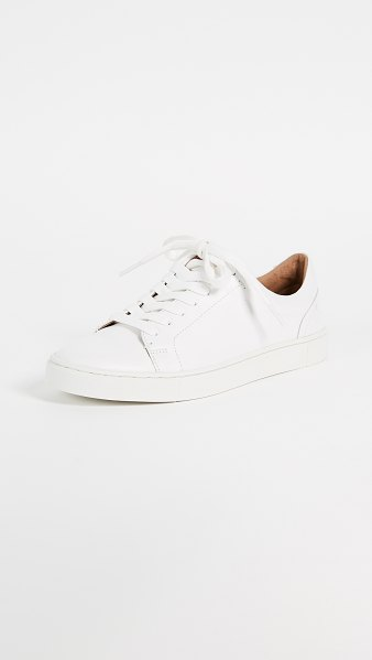 Frye ivy low lace sneakers in white