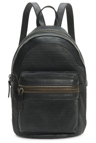 Frye lena perforated leather backpack in taupe