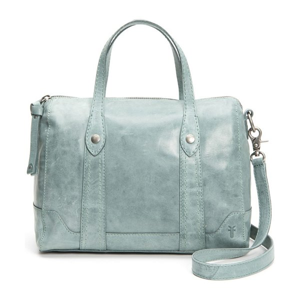 Frye melissa double handle leather satchel in sky