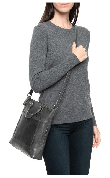 Frye melissa small leather tote in carbon