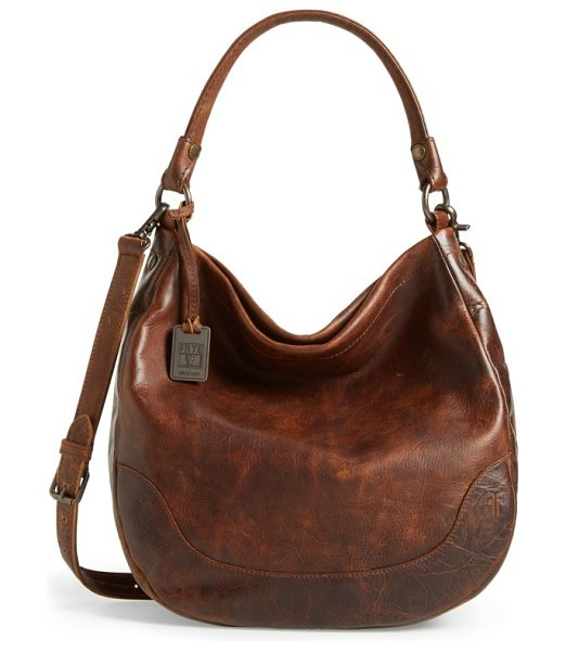 Frye melissa leather hobo in dark brown