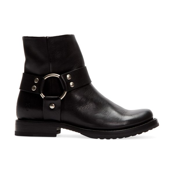 Frye veronica leather moto boots in black