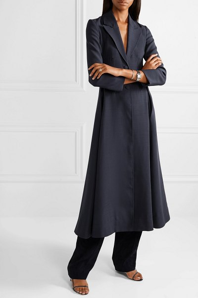 GABRIELA HEARST alfonso wool-blend coat in navy - It wasn't just the carefully crafted clothes that made...