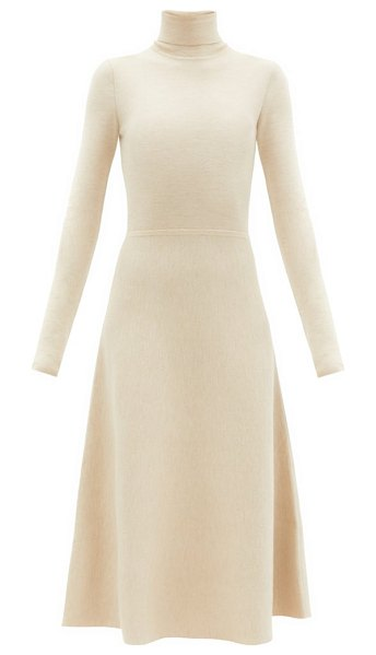 GABRIELA HEARST betti roll-neck cashmere-blend knitted dress in light beige