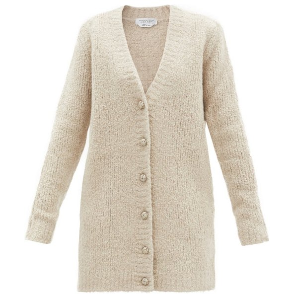 GABRIELA HEARST chase cashmere-blend chenille cardigan in light beige