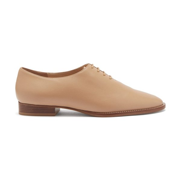 GABRIELA HEARST collins leather derby shoes in beige