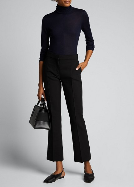 GABRIELA HEARST Costa Cashmere-Silk Turtleneck Sweater in navy