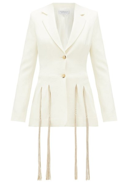 GABRIELA HEARST maurize single-breasted wool-crepe blazer in ivory