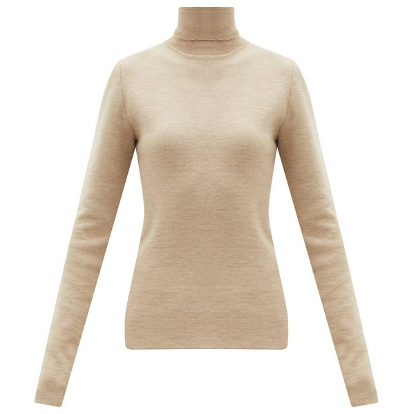 GABRIELA HEARST myers cashmere-blend roll-neck sweater in beige