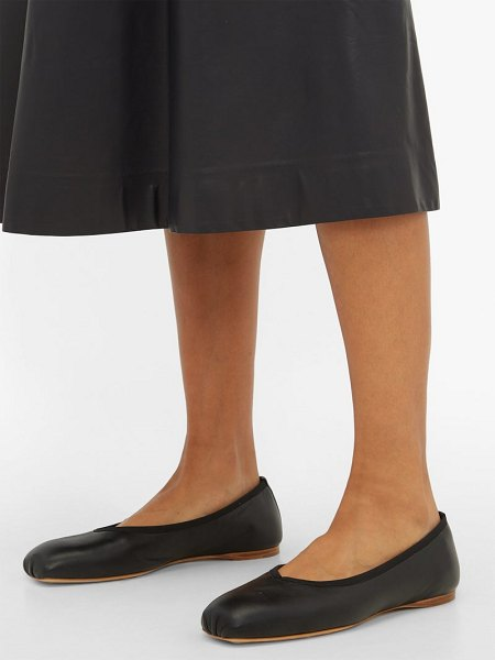 GABRIELA HEARST nata square toe leather ballet flats in black