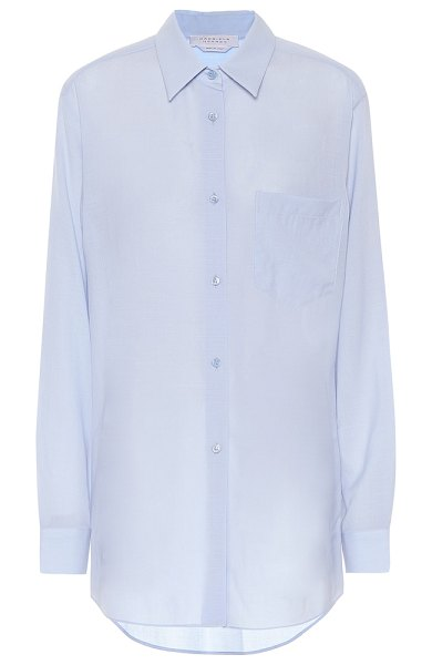 GABRIELA HEARST reyes wool and cashmere blouse in blue