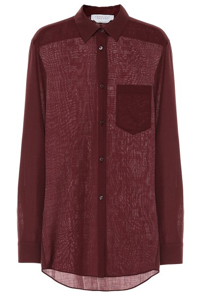 GABRIELA HEARST reyes wool and cashmere blouse in purple