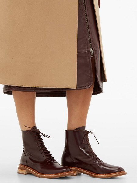 GABRIELA HEARST robin lace-up leather boots in burgundy