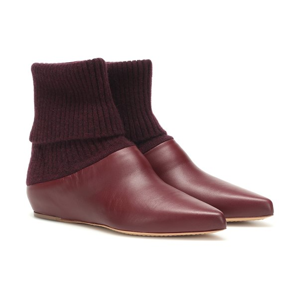 GABRIELA HEARST rocia leather ankle boots in red