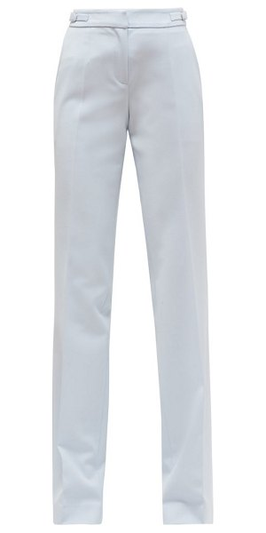 GABRIELA HEARST torres stretch-wool crepe wide-leg trousers in light blue