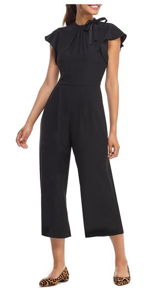 Gal Meets Glam Collection sybil flutter sleeve jumpsuit in black