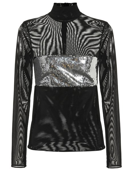 Galvan London Chrome sequined top in black - Arm your disco edit with the shimmering sartorial style...