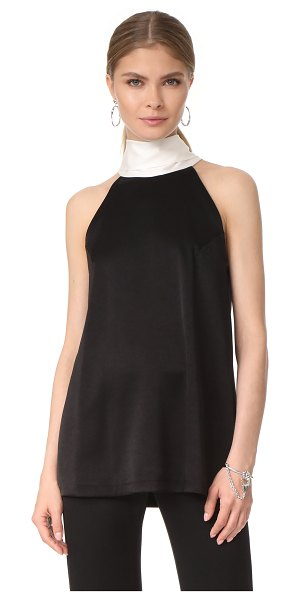 Galvan London sash neck top in black/white - This sleeveless Galvan London top is finished with a...