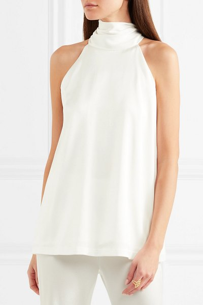 Galvan London satin halterneck top in white - EXCLUSIVE AT NET-A-PORTER.COM. Galvan has made so many...