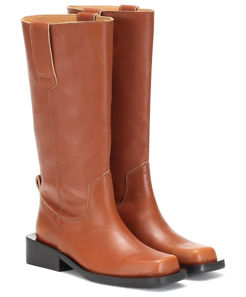 Ganni leather boots in brown