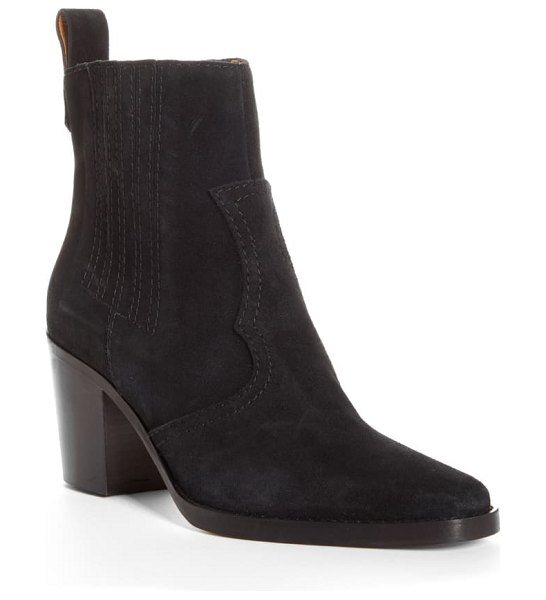 Ganni short western boot in black