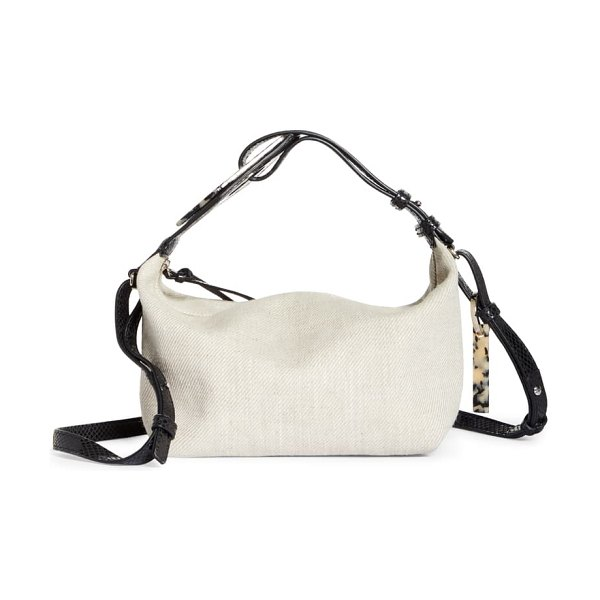 Ganni slouchy canvas crossbody bag in nature