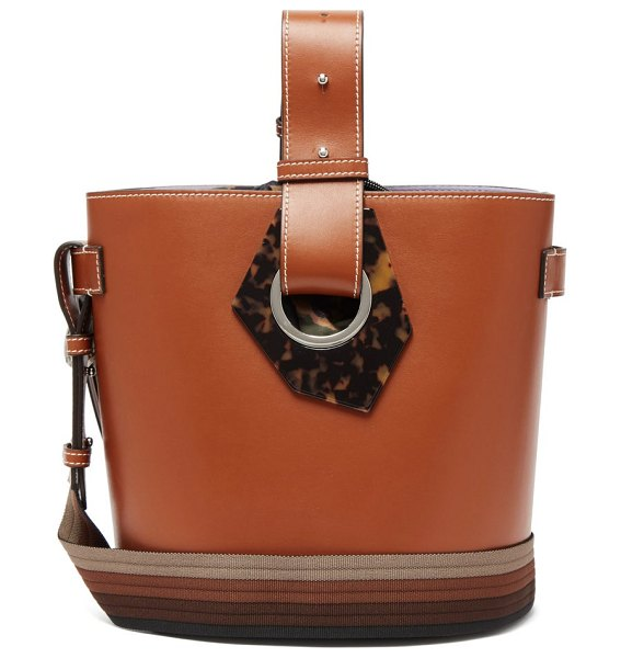 Ganni smooth-leather shoulder bag in tan