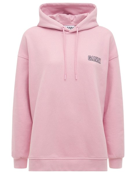 Ganni Software isoli printed hoodie in lilac