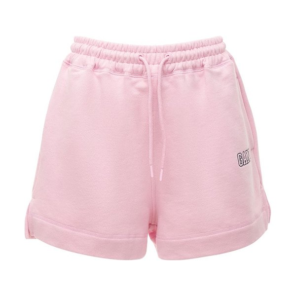 Ganni Software isoli printed shorts in lilac