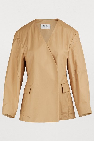 Gauchère Nela short jacket in beige - With its key pieces like this Nela short jacket,...