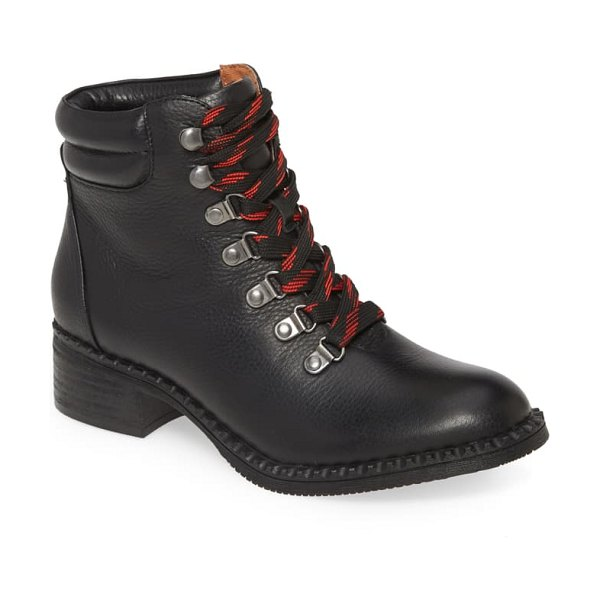 Gentle Souls by Kenneth Cole brooklyn combat boot in black leather