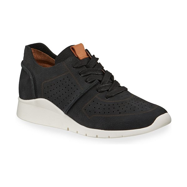 Gentle Souls Raina Lightweight Nubuck Jogger Sneakers in black